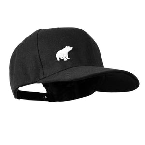 Unisex Plain Bear Snapback - Black/White