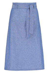 Jasmine Cotton Chambray Skirt