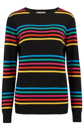 Rita Paradise Stripe Rainbow Sweater