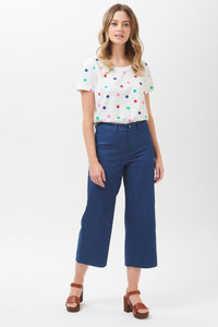 Alma Cropped Wide Leg Trouser