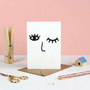 Winky Face Greetings card