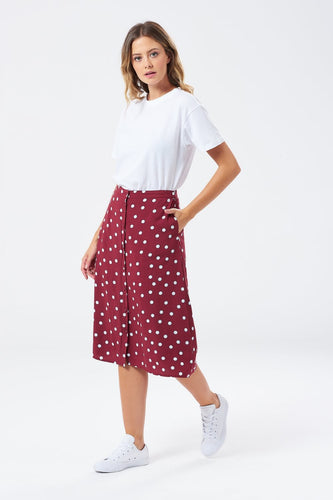 Chloe Brit Pop Button Down Skirt