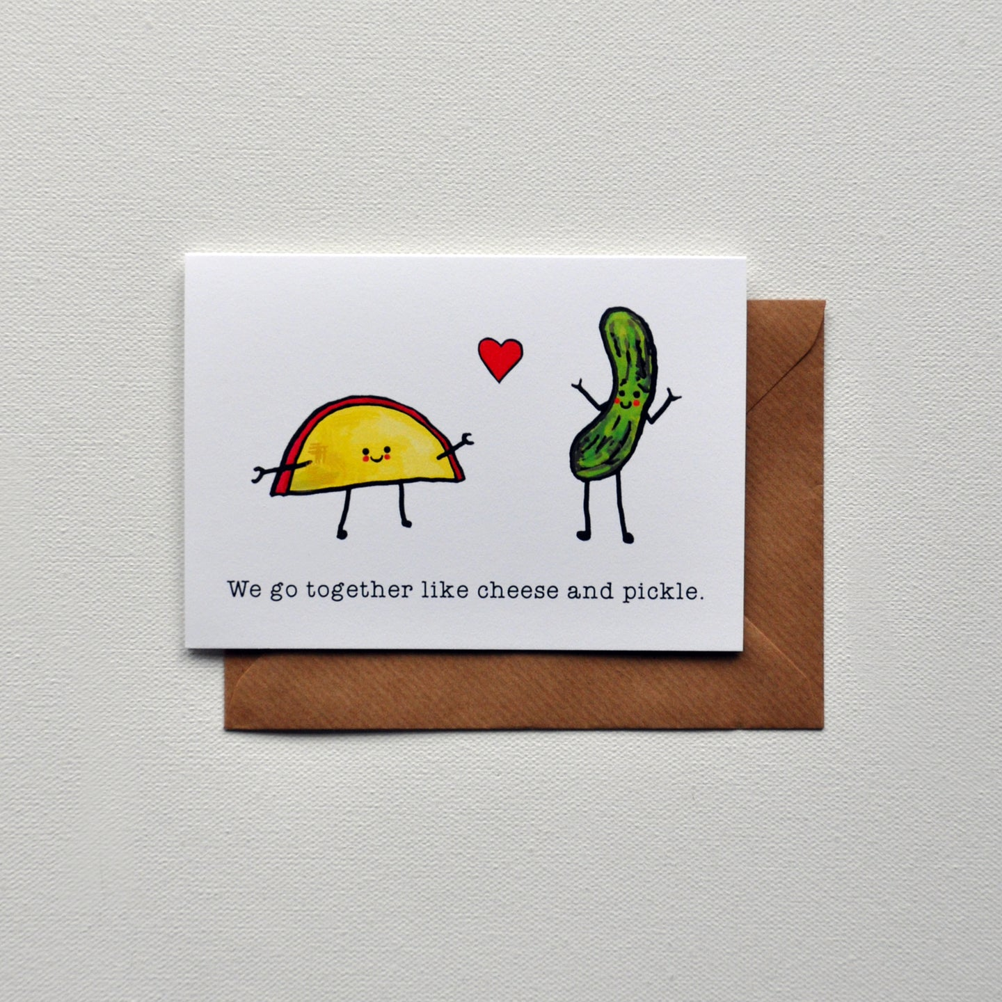 Cheese And Pickle Greetings Card