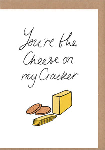Cheese On Crackers Greetings Card