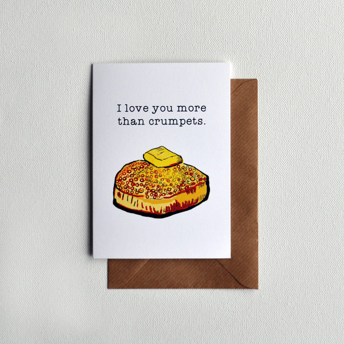 Crumpets Greetings Card