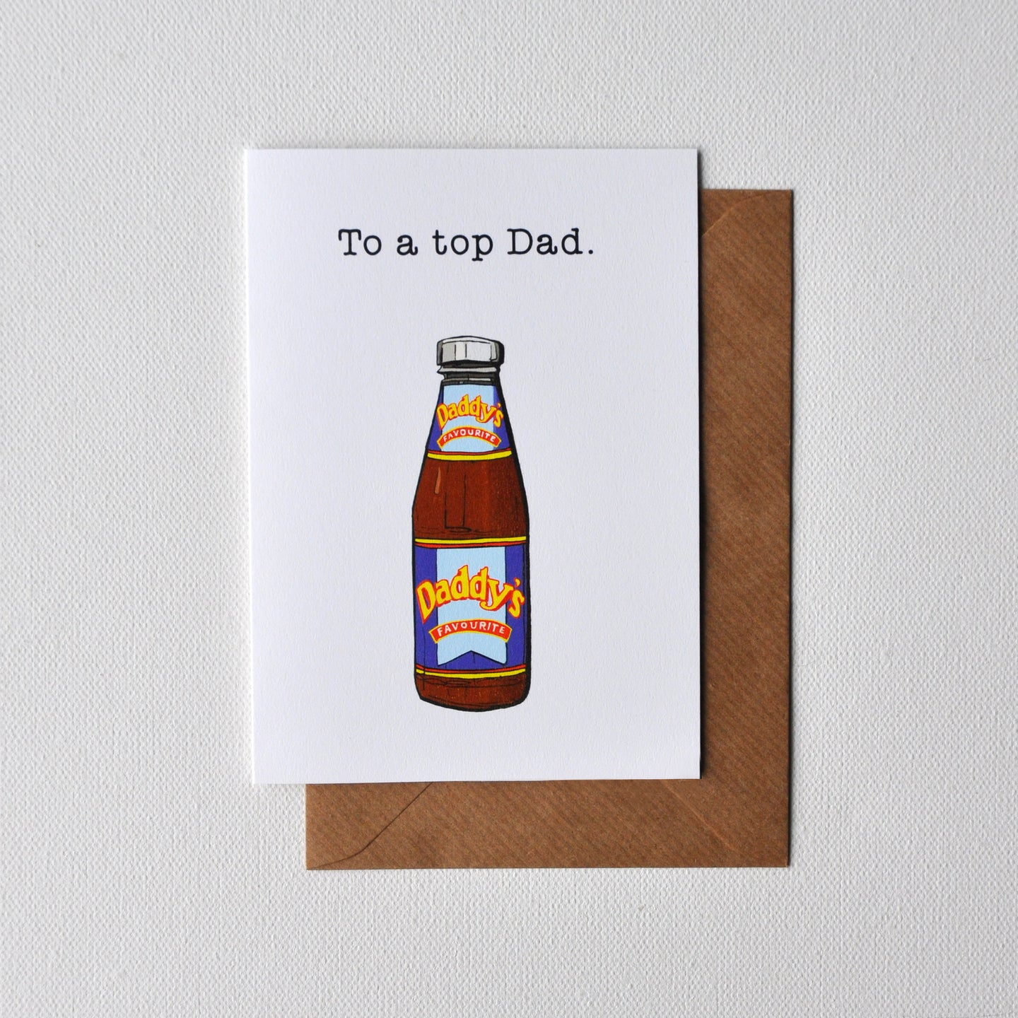 Top Dad Greetings Card