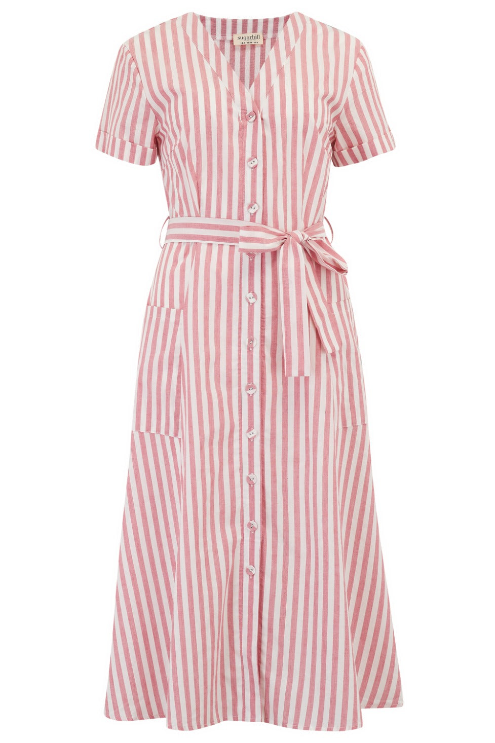 Elvina Deck stripe Midi Dress