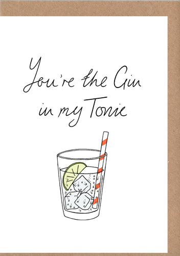 Gin And Tonic Greetings Card
