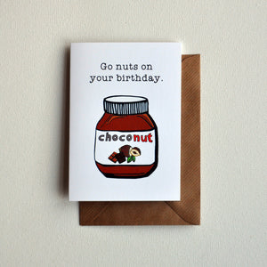 Choconut Greetings Card