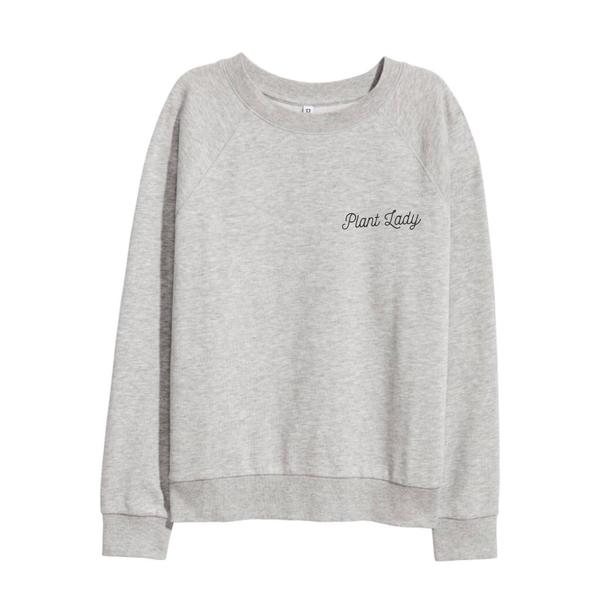 Plant Lady Sweatshirt - Grey