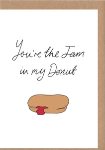 Jam Donut Greetings Card