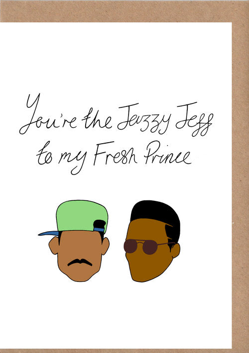 Fresh Prince Greetings Card
