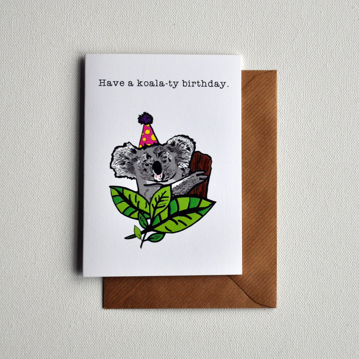 Koala-ty B'day Greetings Card