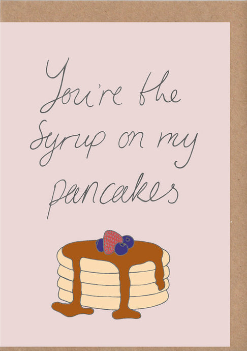 Pancakes Greetings Card