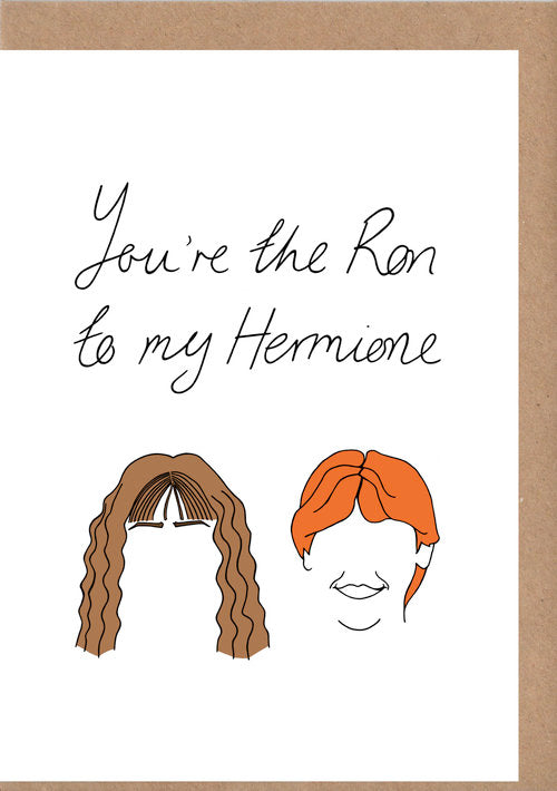 Ron & Hermione Greetings Card