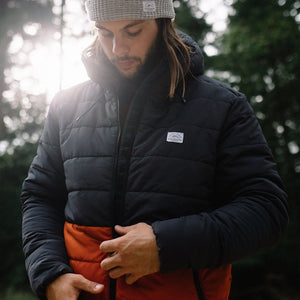 Patrol Insulated Jacket - Charcoal/Rust