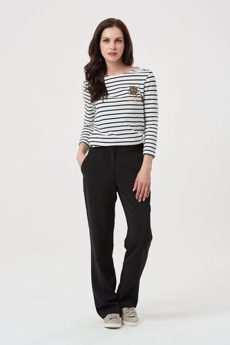 Dana Straight Leg Trouser - Black