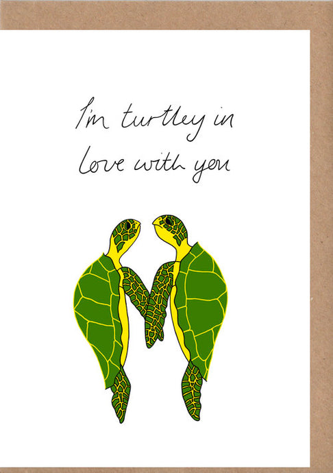 Turtle Love Greetings Card