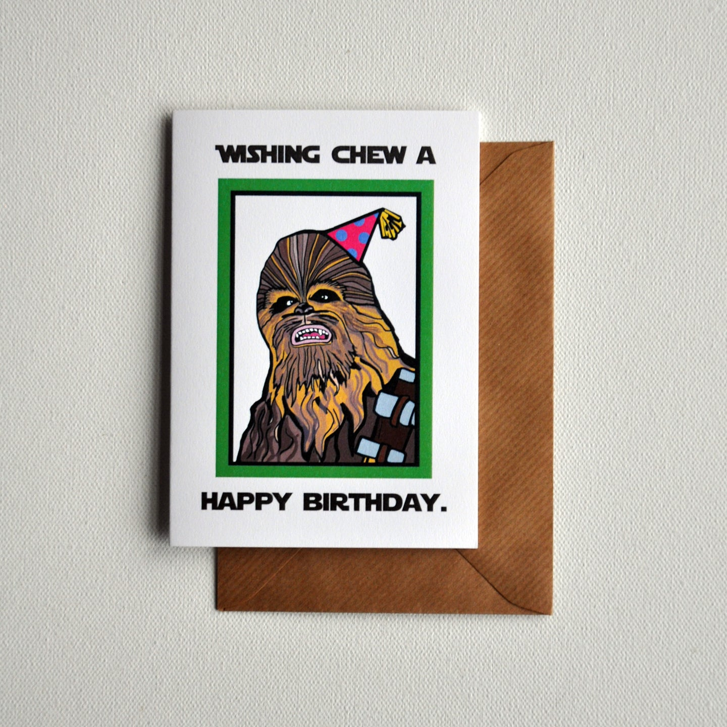 Chewbacca Greetings Card