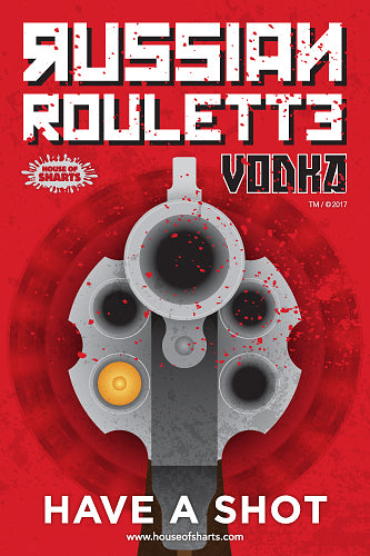4563ef9a5 Russian Roulette Vodka - Have a shot. House of Sharts. Humour self adhesive  vinyl