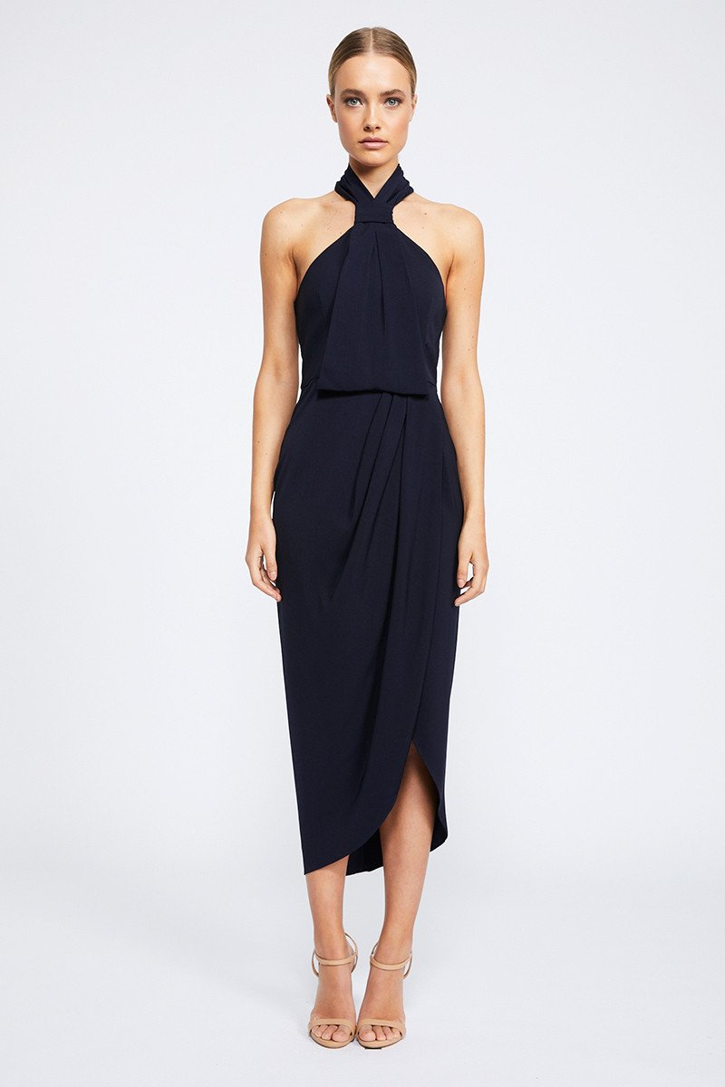 Core Knot Draped dress