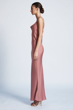 Luxe Bias Cowl Slip dress - rose