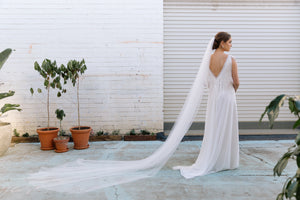 Raw Edge Tulle Veil