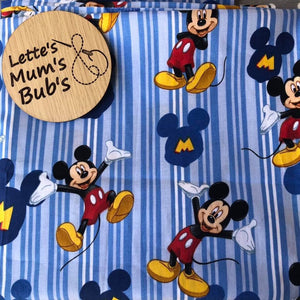 Mickey Mouse Blue Universal Pram Liner + Strap Covers