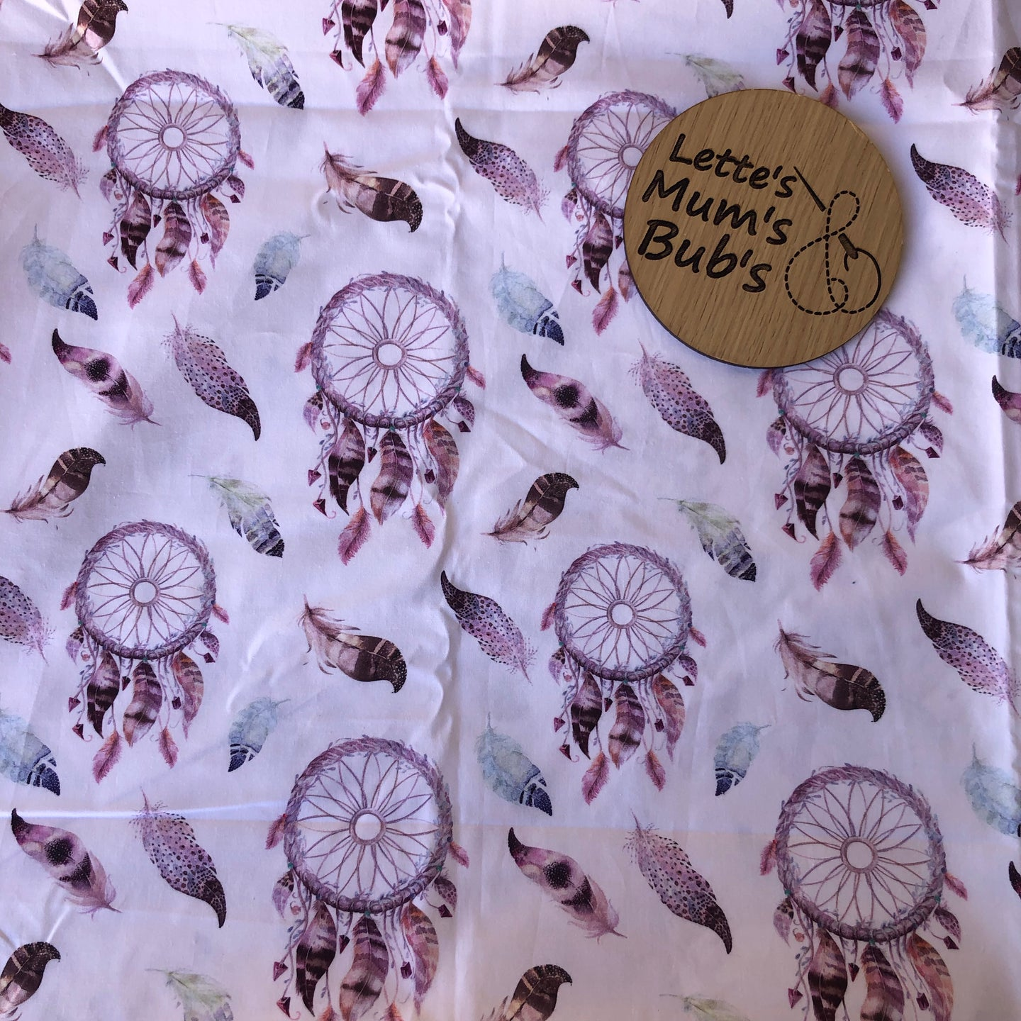 Dream Catchers White Taggie Comforter Blanket 30x30cm