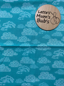 Made To Order Green Clouds Trolley Bar Cover