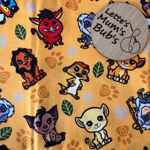 Lion King Custom Universal Pram Liner + Strap Covers