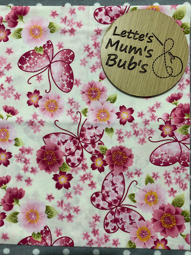 Made To Order Pink Butterflies Trolley Bar Cover