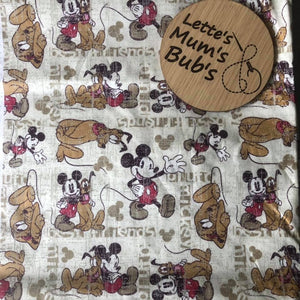 Mickey Mouse & Goofy Universal Pram Liner + Strap Covers