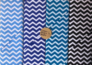 Chevron Light Blue Taggie Comforter Blanket 30x30cm