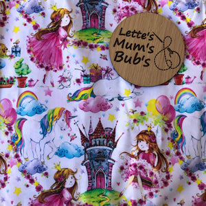 Princess Unicorn Castle Taggie Comforter Blanket 30x30cm