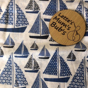 Sail Boats Taggie Comforter Blanket 30x30cm
