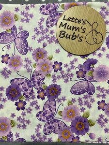 Made To Order Purple Butterflies Trolley Bar Cover