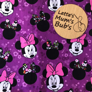 Minnie Mouse Purple Taggie Comforter Blanket 30x30cm