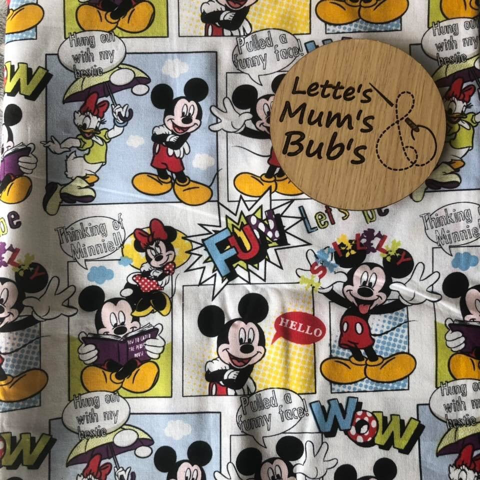 Mickey Mouse Comic Taggie Comforter Blanket 30x30cm