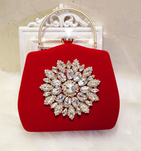 new diamond sun flowers  luxury wedding clutch bags