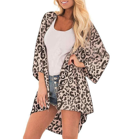 women tops and blouses Fashion Leopard Print Cover Casual Blouse Tops