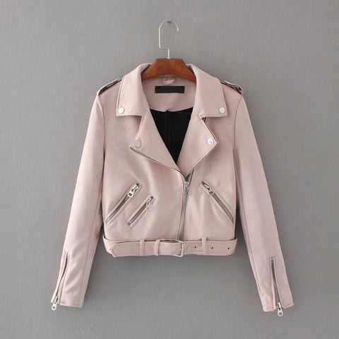 Kiara Suede Short Leather Jacket