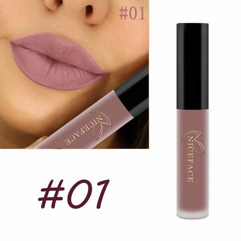 HOT SALE Lip gloss Matte 28 Color Lip Gloss Velvety Lipstick Liquid Matte Waterproof