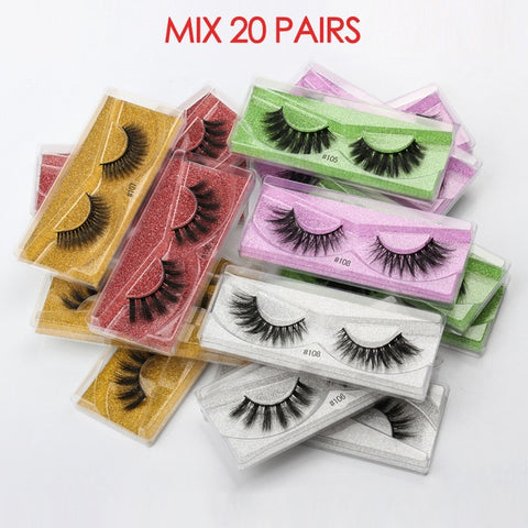 Wholesale Eyelashes 30/40/50/100pcs 3D Mink Lashes