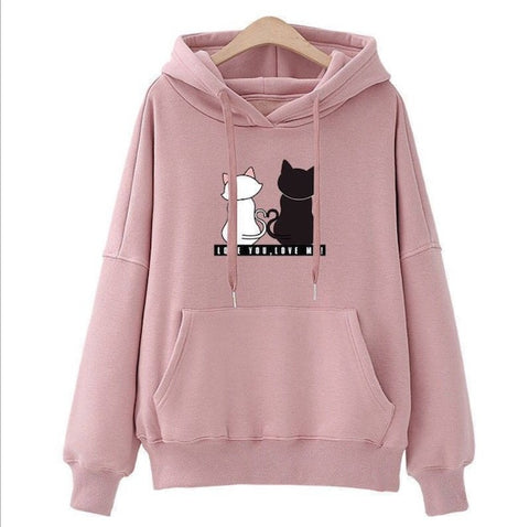 Winter Pullover Sweatshirts For Cat Lovers