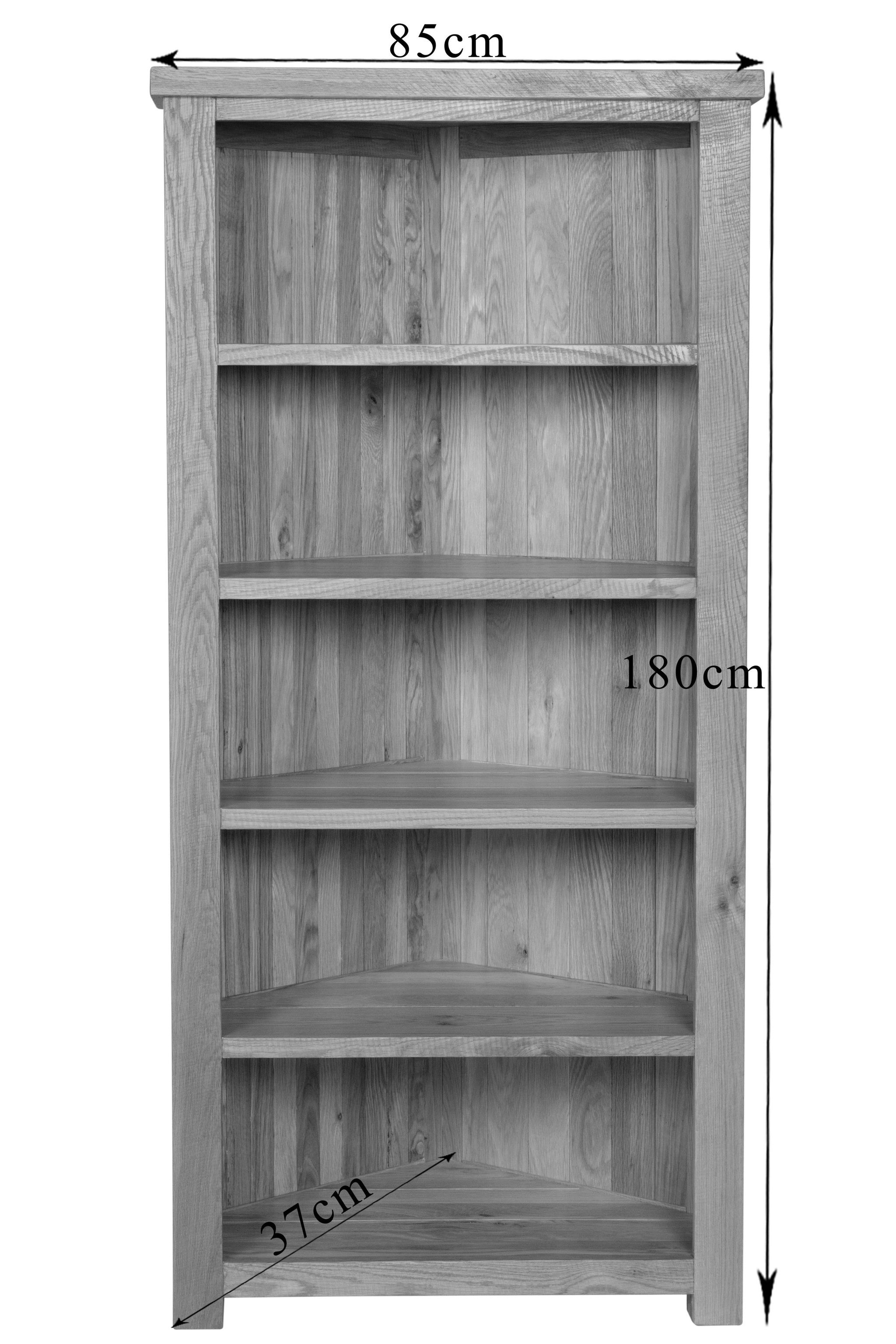 Ashley Oak Corner Bookshelf Oak Superstore