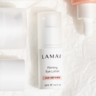 LaMav Firming Eye Lotion. This velvety cream visibly lifts, tones and transforms the delicate eye area. Shop at Skinbase Beauty.