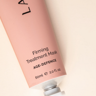 LaMav Firming Treatment mask. This bio-active rich, velvety mask visibly lifts, tones and boosts elasticity to reveal a plumper and more youthful glow. Shop at Skinbase Beauty.