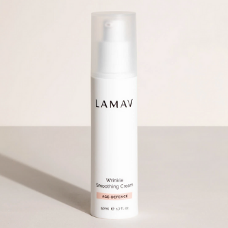LaMav WrinkleSmoothing Cream. A highly concentrated day moisturiser, packed with superfoods, which help to maintain elasticity and firmness. Shop at Skinbase Beauty.