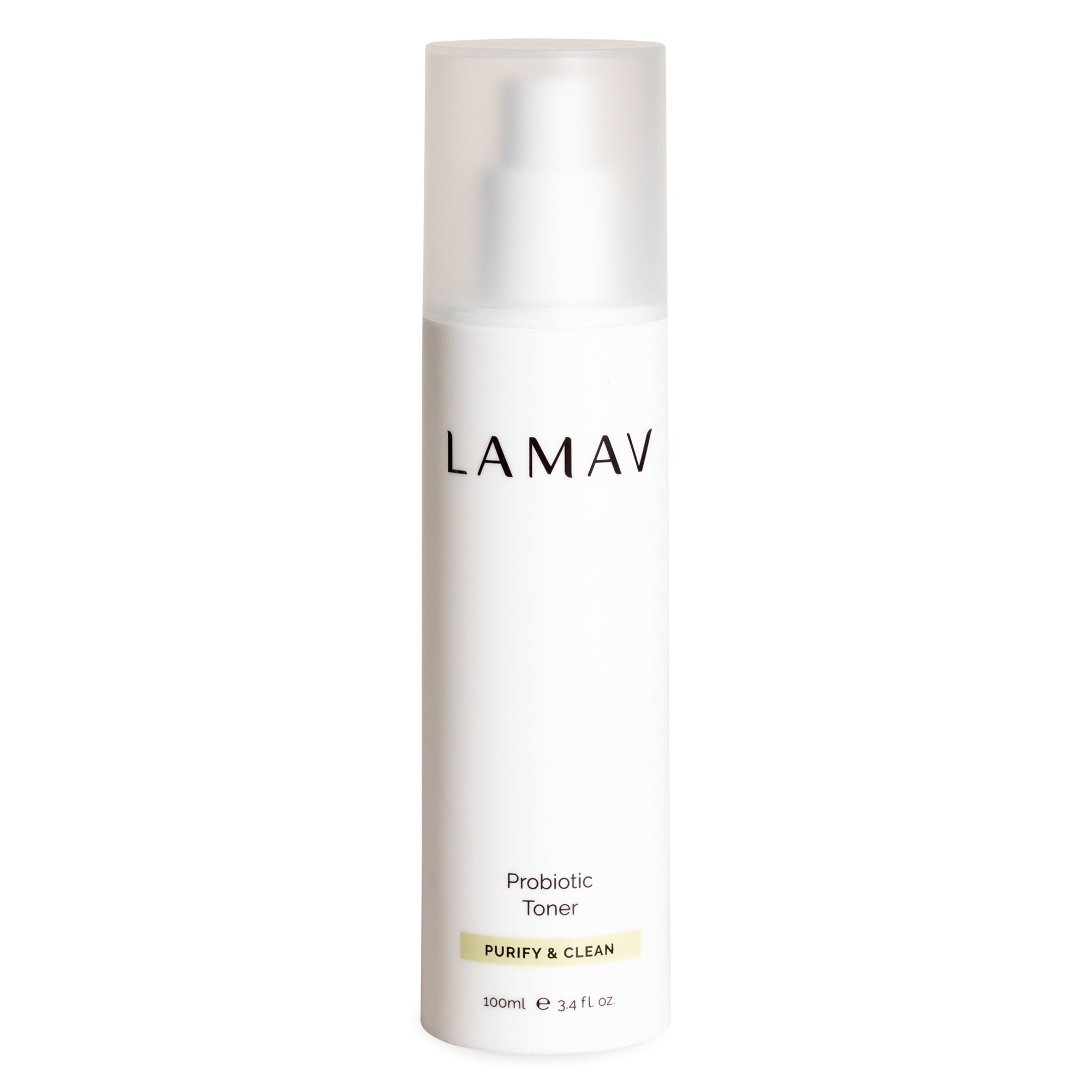LaMav Probiotic Toner. A unique blend of probiotics that helps to balance the skin's microbiome while boosting skin's immune health for a vibrant, healthy complexion. Shop at Skinbase Beauty.